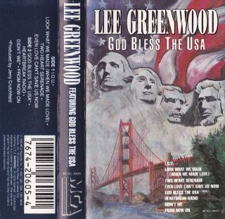 God Bless The USA Lee Greenwood Cassette 1994 In 076742060541
