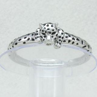 Fasion Silver Tone Panther Leopard Bracelet Bangle Cuff