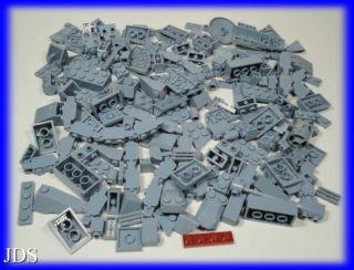 Lego Blue Gray Color Bricks Parts Mix Lot