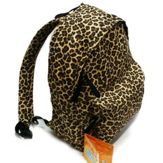 Leopard Animal Print Backpack Bag School Bag