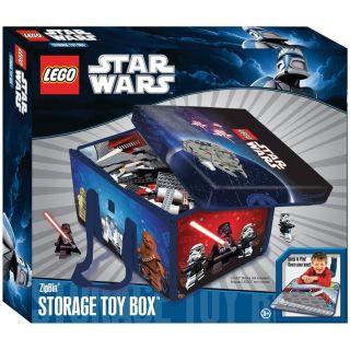 Lego Star Wars ZipBin Storage Toy Box Holds 1000 Bricks Play Set BNIB