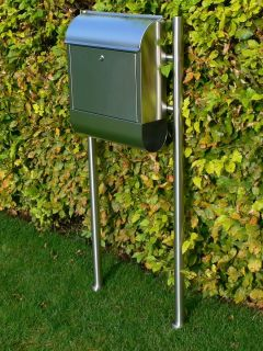 Stainless Steel Floor Standing Letterbox Mailbox Postbox with Stand