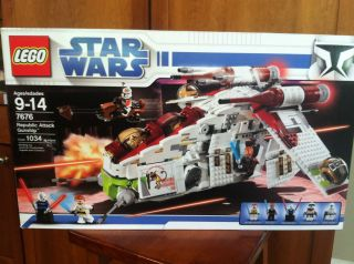 Lego Star Wars Republic Attack Gunship 7676 w Box Instructions