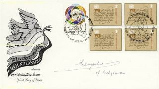 King Leopold III First Day Cover Signed