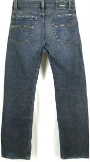 Diesel Levan Jeans Dark Denim Straight Leg 27x30 27 x 30 Button Fly