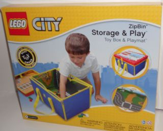 Lego City ZipBin Toybox Toy Box and Playmat in One