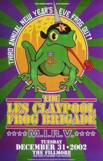 Les Claypool M I R V original 2002 concert poster Bill Graham Presents