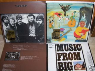 BAND THE BAND MUSIC FROM BIG PINK Levon Helm 2lps 180 GRAM LPS SEALED