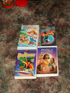 Lot/4 VHS MOVIES Cartoons Children TOM SAWYER BUGS BUNNY & FRIENDS