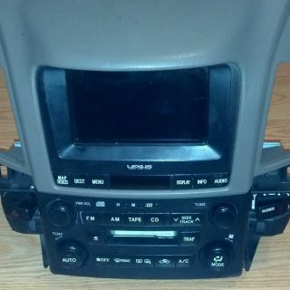 2001 Lexus RX300 Navigation Radio Temp Controls