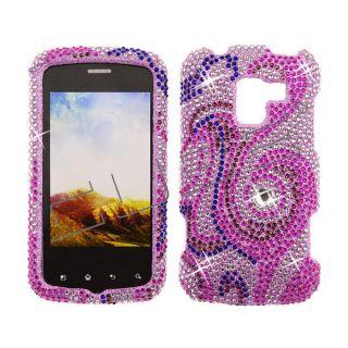 For LG Enlighten Optimus Slider LS700 Diamond Bling Case Cover  Pink