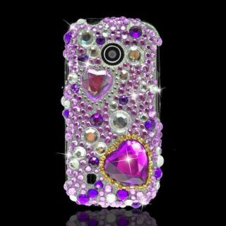 HEART Jewel BLING Rhinestone Hard CASE for LG COSMOS TOUCH VN270