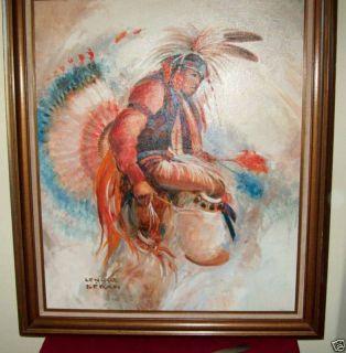 Listed American Artist Lenore Beran 1925 2005