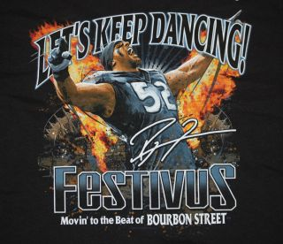 Ray Lewis Baltimore Ravens NFL Festivus Lets Keep Dancing T Shirt Size