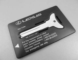 LEXUS SC IS ES RX LX GS EMERGENCY KEY CARD INSERT SPARE BLADE FOB WITH
