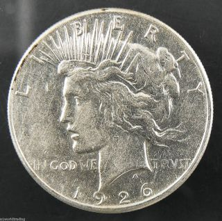 1926 s Peace Liberty Silver One Dollar Coin