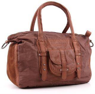 2012 Auth Liebeskind Berlin Victoria Saddle Brown Leather Handbag Sale