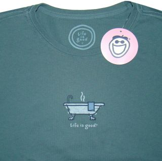 Life Is Good Womens Size L Crusher Tee T Shirt Old Fashioned Tub