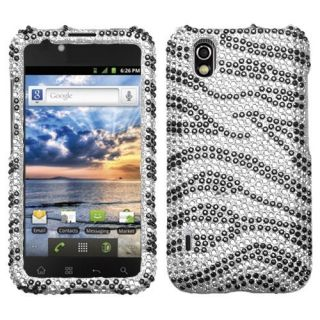 For LG Marquee Crystal Diamond Bling Hard Case Snap on Phone Cover