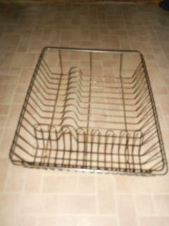 Vintage LG heavy Primitive Rustic Metal Wire Dish Drainer Drying Rack