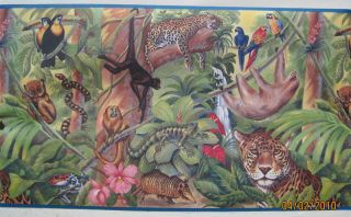 Jungle Animals Monkeys Leopards Wall Border 13 1 2