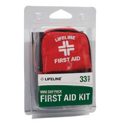 Lifeline Mini Day Pack Emergency First Aid Kit 34 PC New