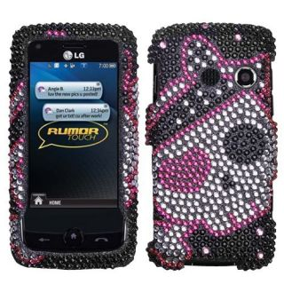 Cute Pirate Bling Hard Case Cover LG Rumor Touch LN510