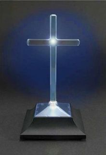 Solar Powered Memorial Cross Cemetery Light