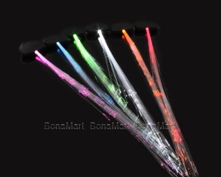 Optic Clip on Hair Flash Light Up Extensions for Women Barrette