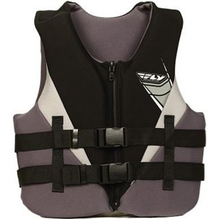 Fly Racing Neoprene Life Vest Jacket Black Grey Coast Guard Approved