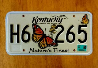 Kentucky Natures Finest License Plate Tag Butterfly Graphic Wildlife