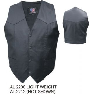 A2200 Mens Lambskin Leather Lightweight Motorcycle Vest