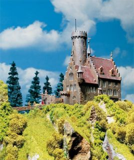 New HO Faller Castle Lichtenstein with Tower Building Kit 130245