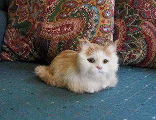 REALISTIC KITTY CAT kitten FURRY ANIMAL REPLICA toy c344tan FREE