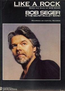 Bob Seger Like A Rock Rock Sheet Music 1986