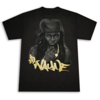 Lil Wayne Gold Logo Shirt New Rap Hip Hop