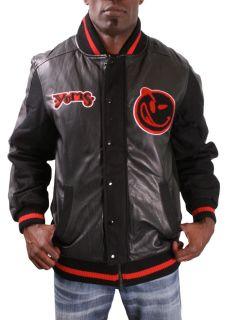 Yums Mens Varsity Jacket Letterman Wool Coat MGK Machine Gun Kelly