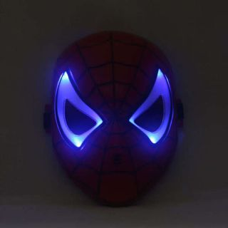 man mask light up LED costume party Charcter Cosplay Toy for Kids Boys