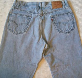 Levis 550 36x30 Blue Jeans Relaxed Fit Tapered Leg Levi Strauss