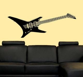 Electric Guitar Rock Music Vinyl Wall Decal Sticker 5ft