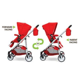 New  The First Years Indigo Retro Red Reversible Stroller