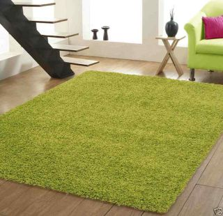 Lime Green Living Room Stylish Carpet Luxury Shaggy Rug