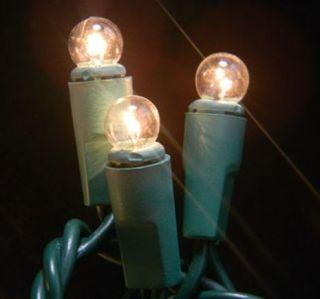 Mini Globe String Lights 50 Clear Bulbs Patio Gazebo