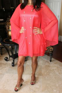 Coral Gables Chiffon Flirty Sexy Long Sleeve Mini Dress Tae Boutique