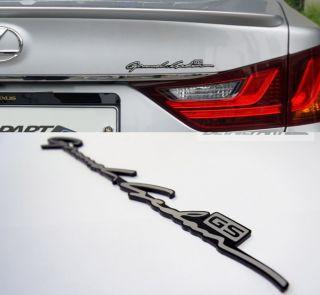Lexus GS Emblem Black Gray Side Door Badge Car Trunk Hood Bonnet Logo