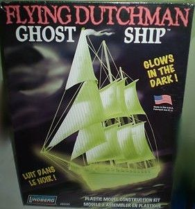 Lindberg Flying Dutchman Ghost Ship Glows in Dark Model Kit Sealed