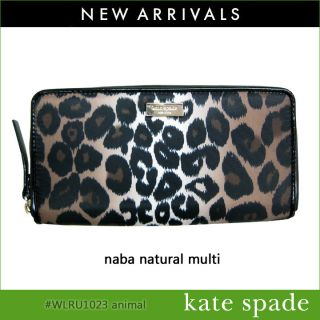 NWT KATE SPADE NEDA LINDENWOOD ANIMAL LEOPARD PRINT WALLET WLRU1023 $