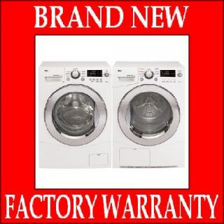 LG Compact Front Load Washer Dryer Set WM1355HW DLEC855W White Energy