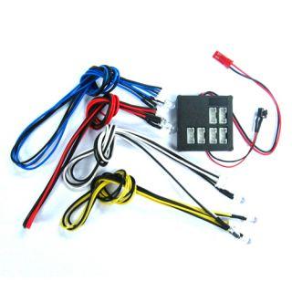 Yeah Racing Dark Drifter LED Light Kit for 1 10 RC Car Fit Tamiya HPI
