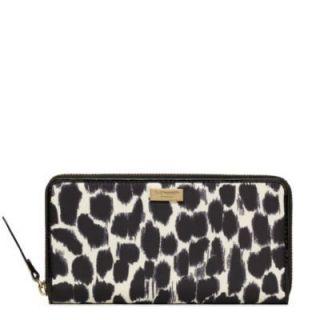 Kate Spade Lindenwood Leopard Neda Wallet WLRU1276 Retail $178